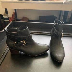 Coach Booties Black Leather
